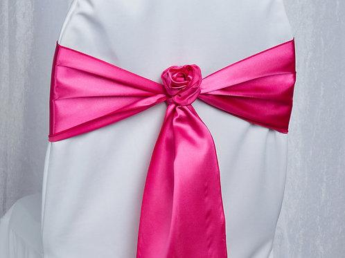 Satin Hot Pink Chair Sash