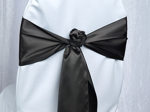 Satin Black Chair Sash
