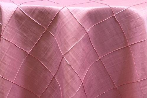Pintuck Taffeta Pink Linens