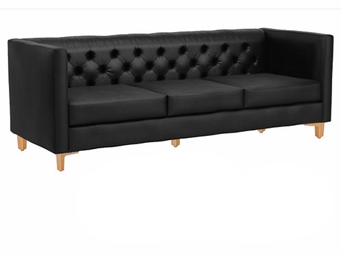 Black Velvet Tufted Sofa