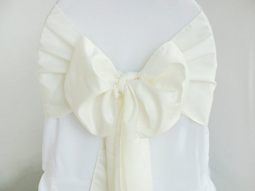 Lamour Ivory Chair Sash