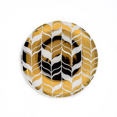 Farrah Gold Accent Plate