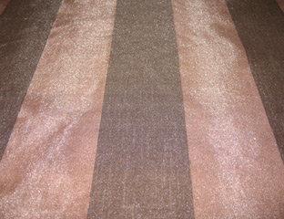 Eternity Stripe Sheer Brown Linen