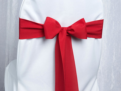 Poly Cherry Red Chair Sash