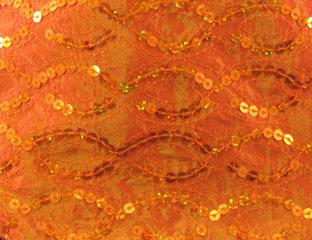 Sequins Taffeta Orange Linen