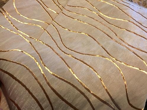 Current Metallic Gold Jacquard Linen