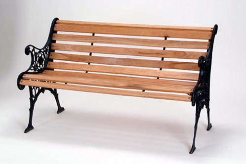 Wood Slat Garden Bench