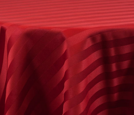 Poly Stripe Red Linen