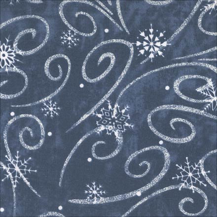 Snow Flurry Printed Blue & White Linens