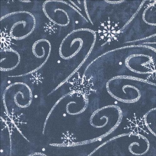 Snow Flurry Printed Blue & White Linens