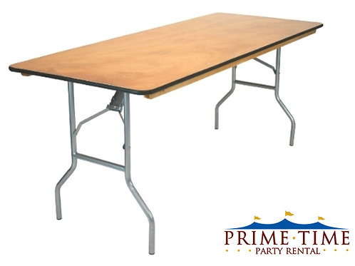 8' Wood Banquet Table