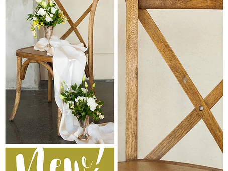Vineyard Chairs- Say Hello to Chestnut!