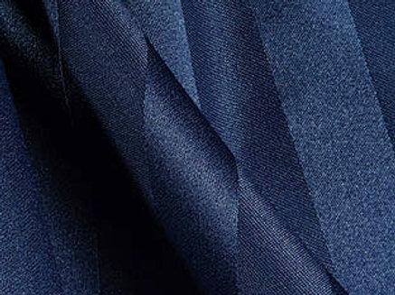 Poly Stripe Navy Linen