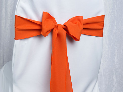 Poly Orange Chair Sash