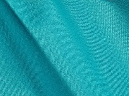 Solid Poly Turquoise Linen