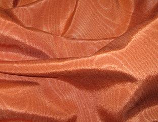 Bengaline Moire Burnt Orange Linen