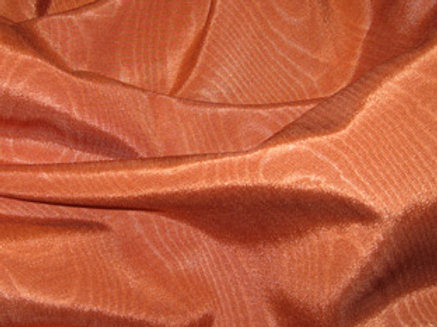 Bengaline Moire Burnt Orange Linen