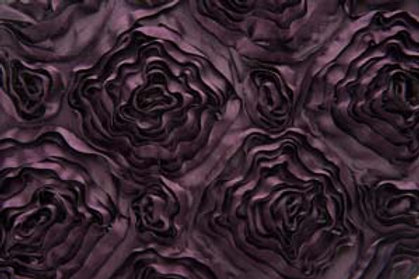 Ribbon Rose Eggplant Table Runner