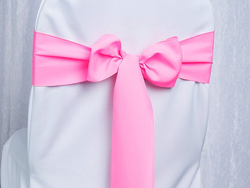Poly Neon Pink Chair Sash