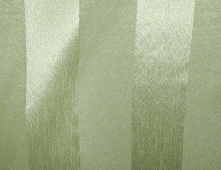Eternity Stripe Sheer Sage Linen
