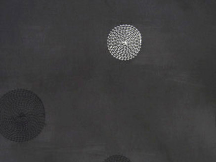 Circle Taffeta Black Linen