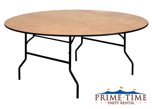 Round Wood Top Table 48'