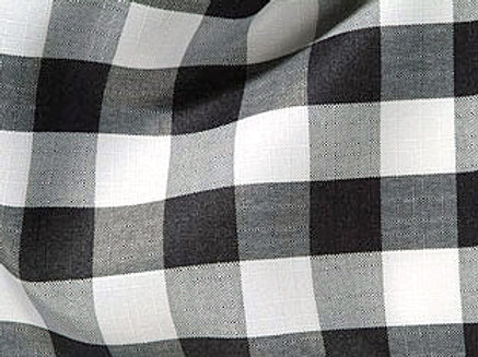 Gingham Check Black & White Linens