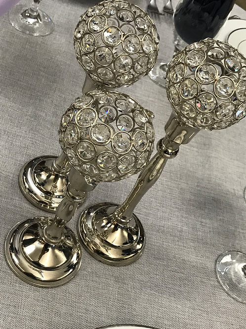 Crystal Silver Globes