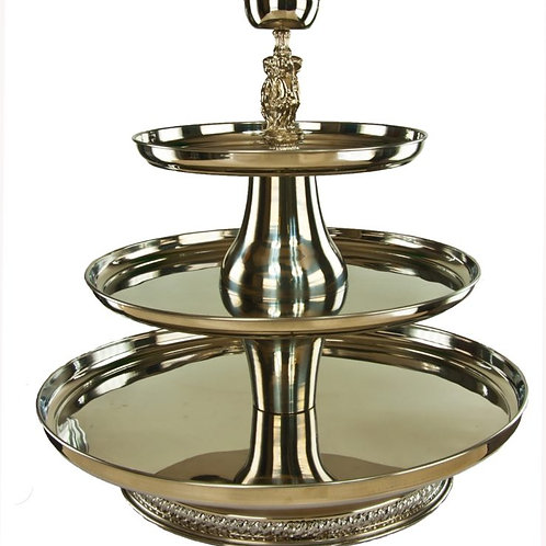 Silver Three-Tier Convertible Dessert Display