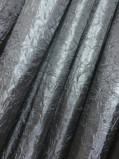 Iridescent Crush Black Specialty Drape Panel 12'