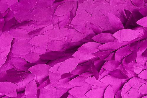 Eden Dangling Leaves Taffeta Magenta Linens
