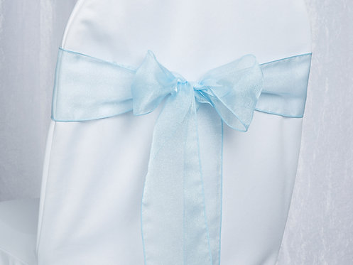 Organza Light Blue Chair Sash