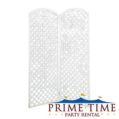 Arched Top Lattice Room Divider Panels