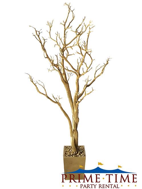 "Manzanita Tree Gold Centerpiece 48"""