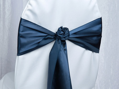 Satin Navy Chair Sash
