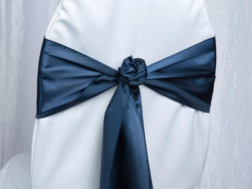 satin navy chair sash wedding rentals columbus got ya covered