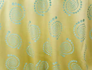 Kaleidoscope Bubble Maize Linen