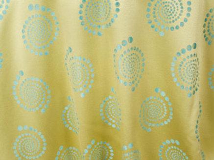Kaleidoscope Bubble Maize Linen