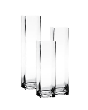 Glass Square Vases