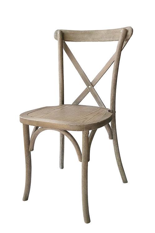 Driftwood Cross Back Vineyard Chair