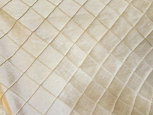 Pintuck Bone Ivory Linen