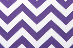 Chevron Purple Table Runner