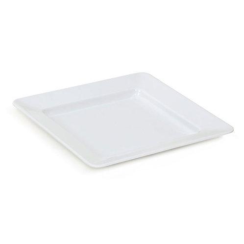 """Square White Plate 12"""""""
