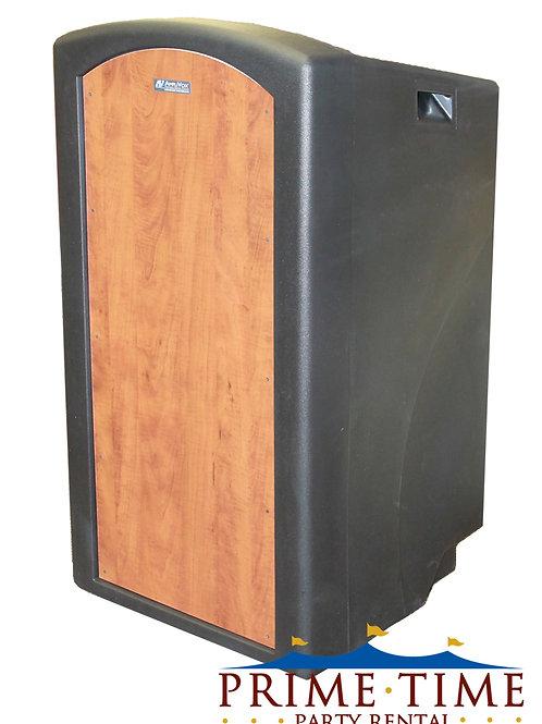 Full Height Wood Panel Lectern Podium