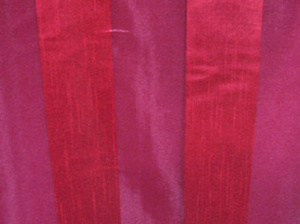 Eternity Stripe Sheer Burgundy Linen