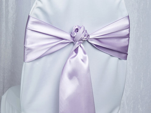 Satin Lilac Chair Sash