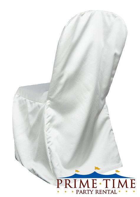 Matte Satin White Banquet Chair Cover