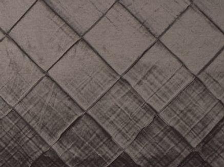 Pintuck Taffeta Silver Linens