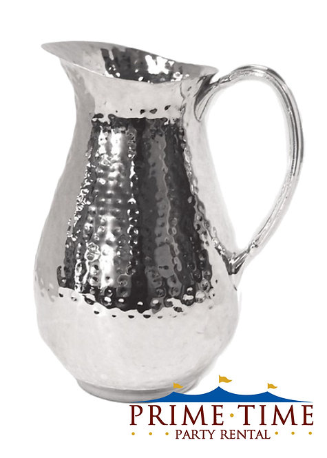 Stainless Steel Hammered Pitcher 85 oz