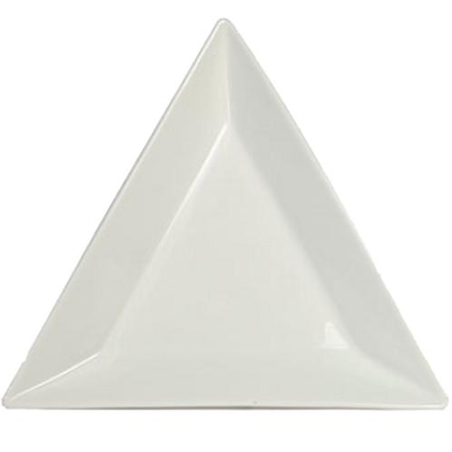 "White Triangle Plate 10"""